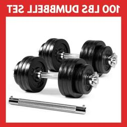 Yes4All 100 lb Adjustable Dumbbell Weight Set & Connector *F