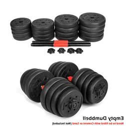 Empty New Weight Dumbbell Set Adjustable Gym Barbell Plates
