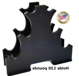 3 Tier Dumbbell Rack by CHOICE, MADE in USA, Hex Dumbbell St
