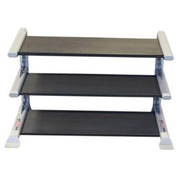 Body-Solid Pro ClubLine 3 Tier Commercial Dumbbell Rack fits