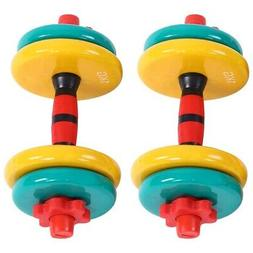 Colorful Removable Dumbbell Non Slip Grip Fitness Gym Home W