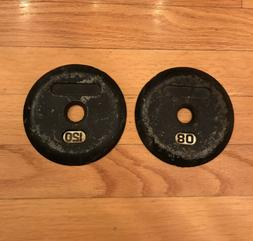 Ivanko Dumbbell End Caps Plates 1.25 lbs - Set of 2 Vintage