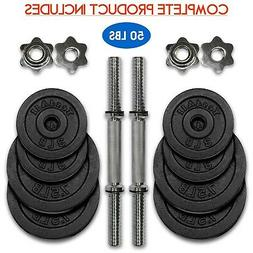 Yes4All Dumbbell Handles Solid Chrome 14-inch x 1-inch With