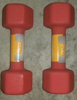 CAP Dumbbells ~ 12 Pounds ~ Set of 2 ~ 24 Lbs Total ~ Red Ne