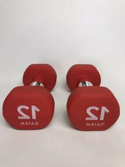 Hand Weights Gaiam 12lb Dumbbells - New