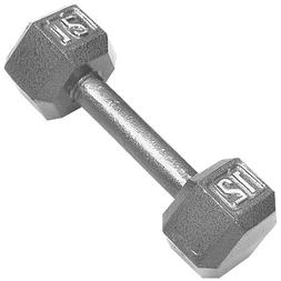 Cap Barbell 12 Pound Hexagon Solid Dumbbell Weight, Single
