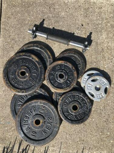 65 lbs of weight plates iron