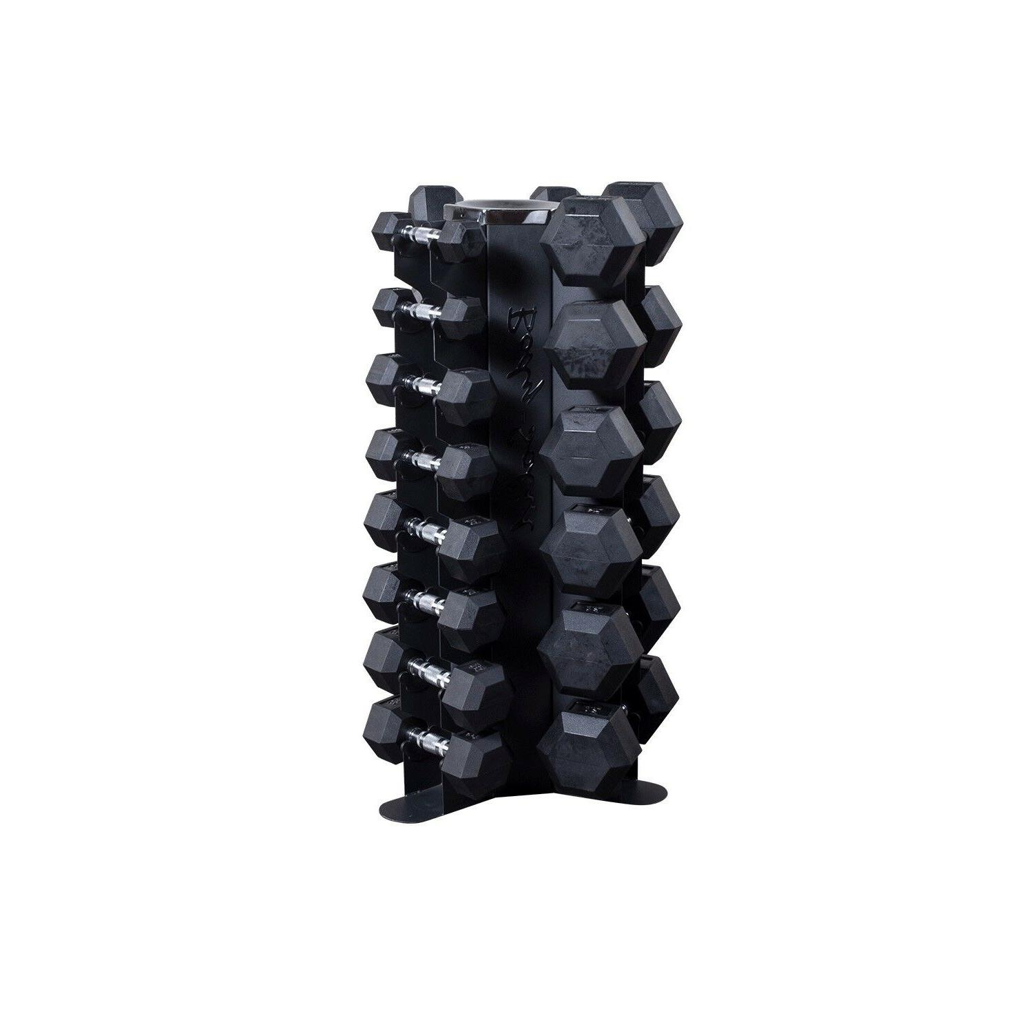body solid vertical rack with 5 50