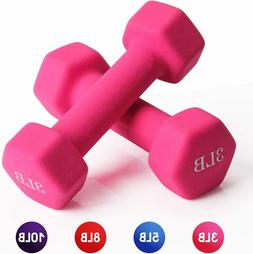 Neoprene Dumbbell Barbell Hand Weight 3/5/8/10 Pounds for Wa