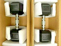 NEW  25 LB Pair Set Rubber Coated Dumbbells  50 Lbs Total GY