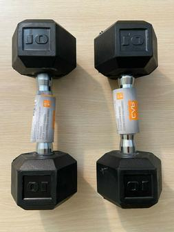 🦾 NEW CAP Coated Rubber Hex Dumbbell SETS 10, 15, 20, 25,