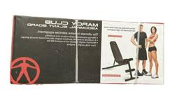 NEW - Fully Adjustable Marcy Abdominal Weight Bench, 400LB M