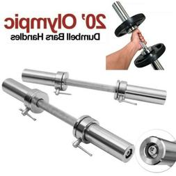"""Pair Olympic 2"""" Barbell Solid Dumbbell Weight Lifting Bars"""