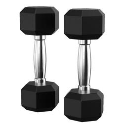 Set of 2 Dumbbell Weights Cap Hex Neoprene 5LB Pound Pair He