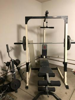 marcy smith machine features weights/dumbbells 17ft tall - 8