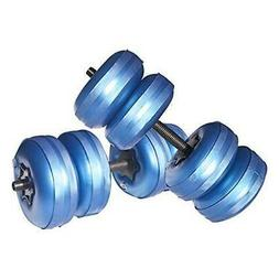 Travel Weights Water Filled Dumbbells Set for Man & Women, A