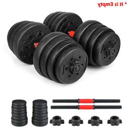 Weight Dumbbell Set Empty Rubber Adjustable Gym Barbell Plat