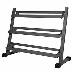 XMark Fitness XM-4439 Three Tier Dumbbell Rack with Angled S